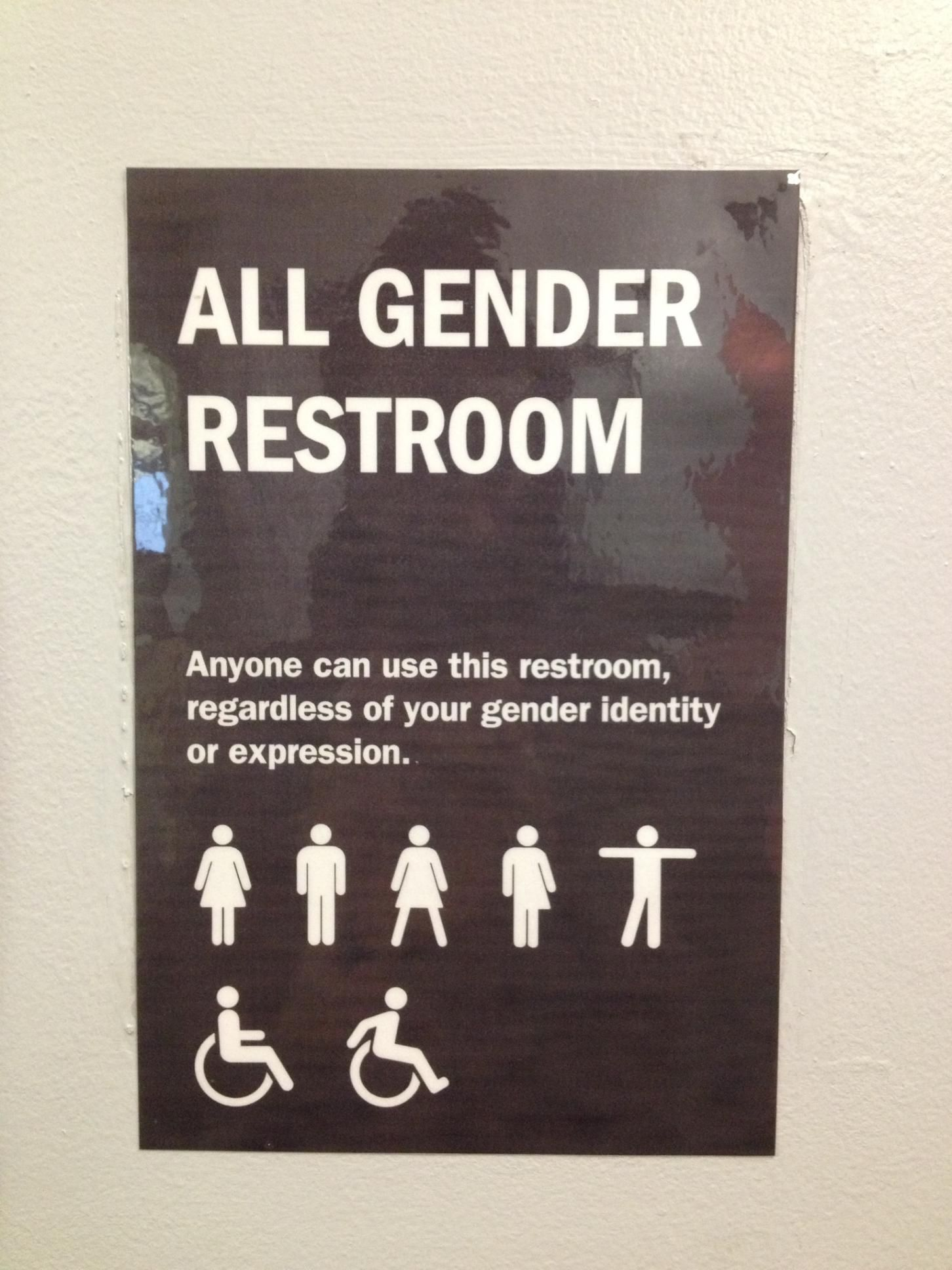 Many Of These Bathroom Signs Are Beginning To Pop Up Across America It S Helping To Break Down The Binary All Gender Restroom Gender Gender Neutral Bathrooms