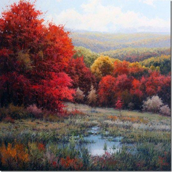 Paisajes pinturas al leo de miguel peidro 8 pinturas - Ver colores de pinturas ...