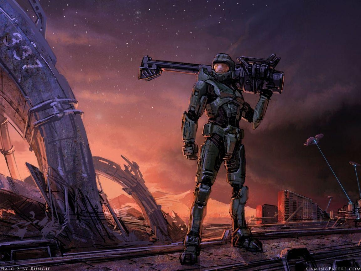 Halo Art Halo 3 Art Wallpaper 1 Halo Halo Spartan Halo Series
