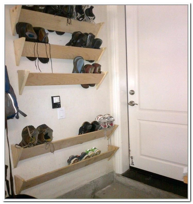 56 Shoes Rack Design Ideas That Many People Like In 2020 Wall Shoe Storage Wall Shoe Rack Shoe Storage Small Space
