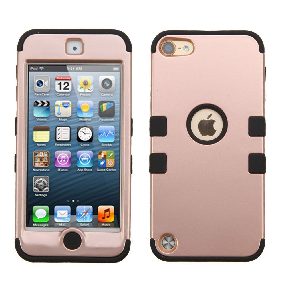 Mybat tuff hybrid apple ipod touch 5g 6g case rose for Housse ipod nano