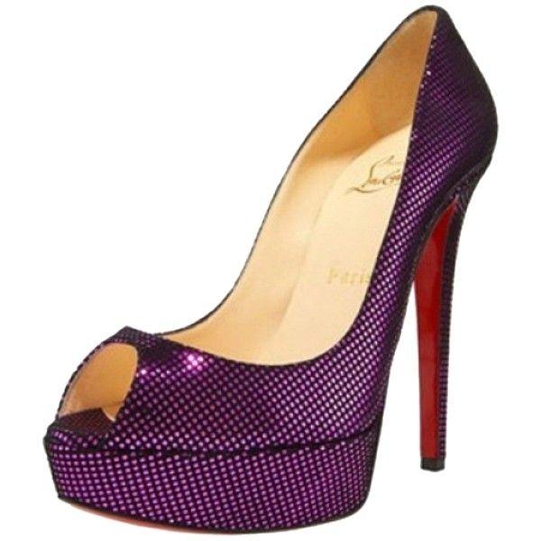 pre owned christian louboutin metallic peep toe pumps metallic rh pinterest com