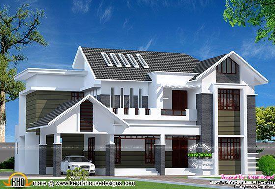 2800 Sq Ft Modern Kerala Home Kerala House Design Beautiful House Plans Modern Style House Plans