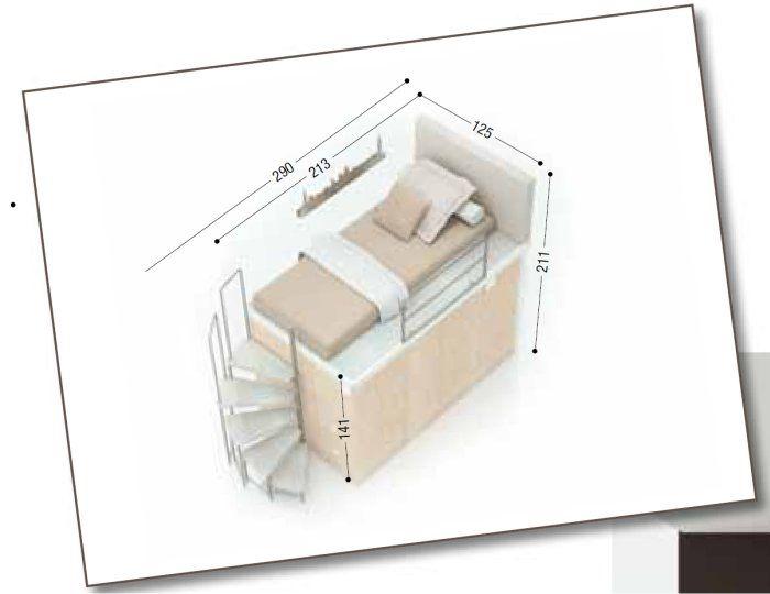 Risultati immagini per letto a soppalco con cabina armadio idee casa carpi pinterest teen - Letto a soppalco con armadio ...