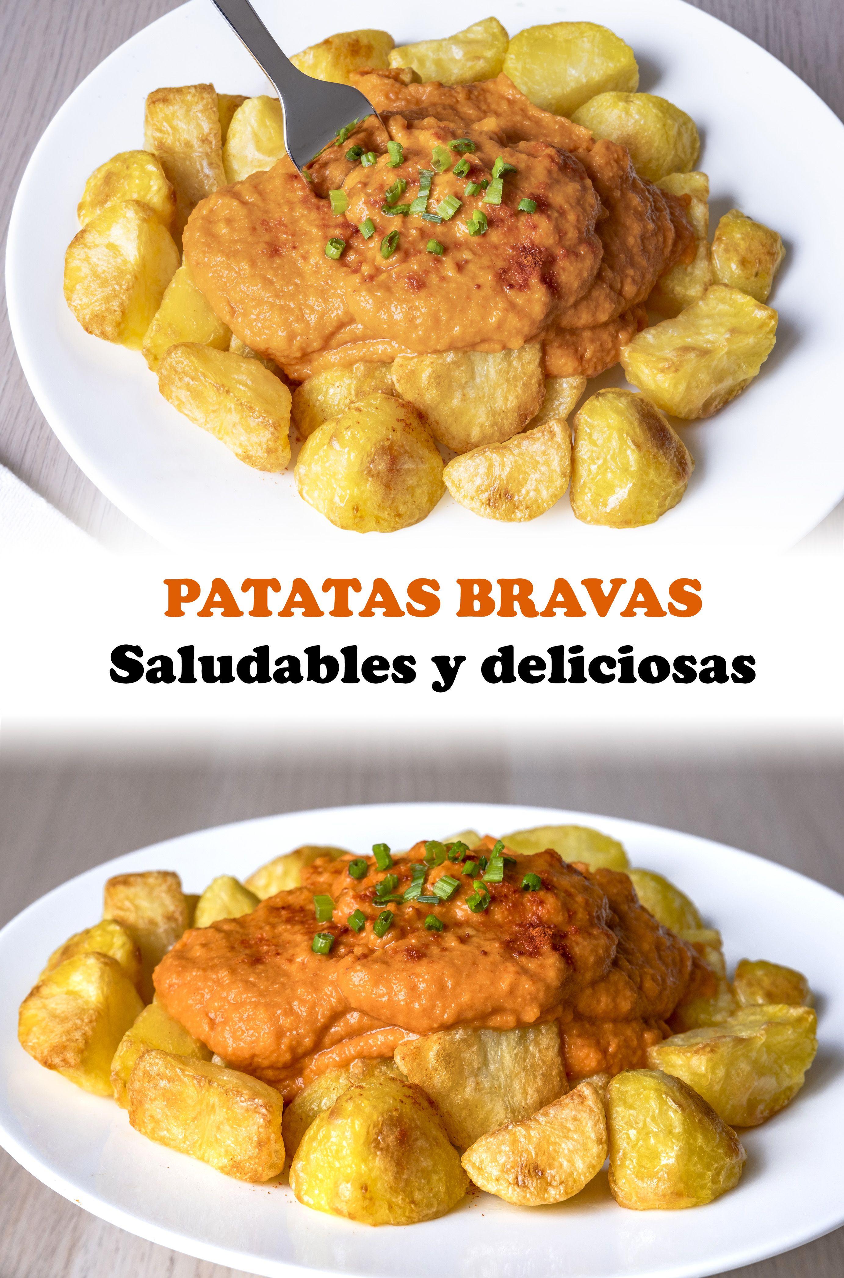 Riquísimas Patatas Bravas Al Horno En 2020 Recetas Saludables Recetas Cenas Comida Saludable Bajar De Peso Recetas