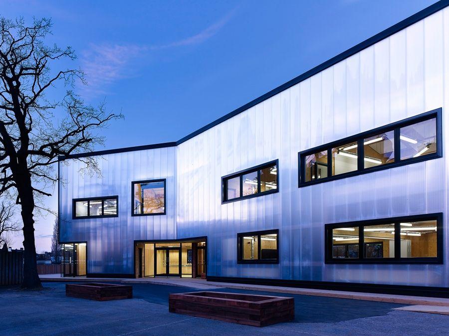 Graveney sixth form block by urban projects bureau exterior design