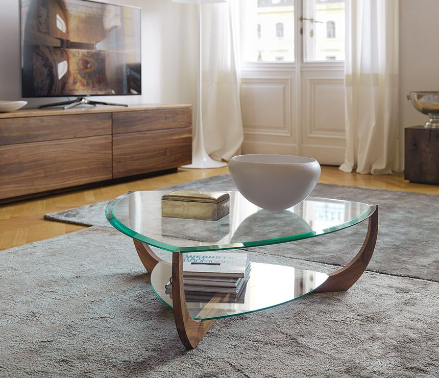 High Oval Coffee Table: High-end Glass Coffee Table