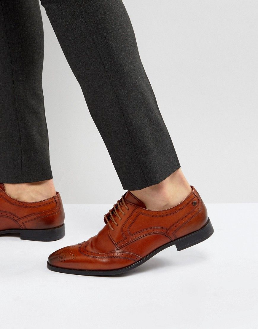Base London Crown Leather Brogue Derby Shoes In d93M6cZHJf