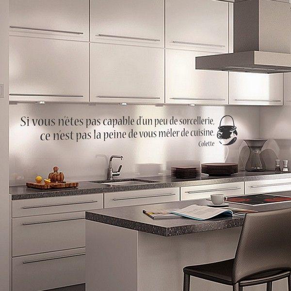 Stickers cuisine et sorcellerie - Stickers cuisine citation ...