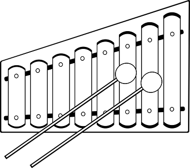 Xylophone Musical Instrument Mallets Xylophone Coloring Pages Clip Art