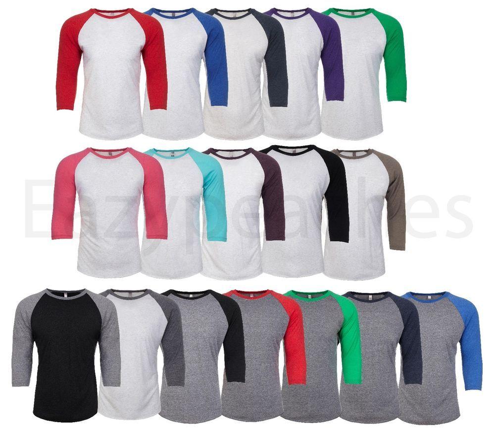 Unisex Men/'s Women/'s Triblend ¾ SLEEVE BASEBALL Raglan Tee Shirt Tshirt T-Shirt