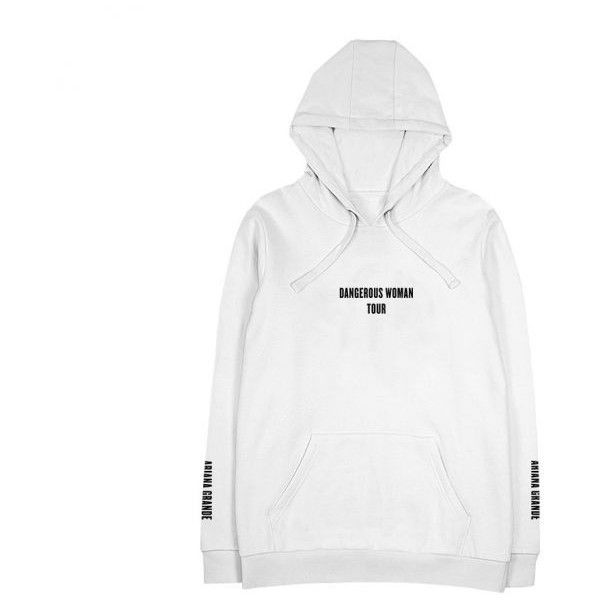 428ec5a81 Dangerous Bunny White Hoodie Ariana Grande ($40) ❤ liked on Polyvore  featuring tops, hoodies, hoodie top, white hoodie, white hoodies, bunny  hoodie and ...