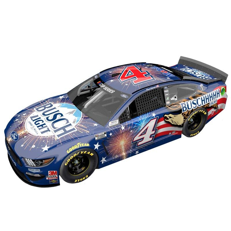 As a die-hard Kevin Harvick fan, you never miss a race. Relive your favorite Kevin Harvick moments every time you see this 2020 #4 Busch Light Patriotic 1:64 Regular Paint Die-Cast Ford Mustang on display in your fan cave. This Action Racing piece has a sweet Kevin Harvick paint scheme and intricate body details that make it unlike anything else in your collection.