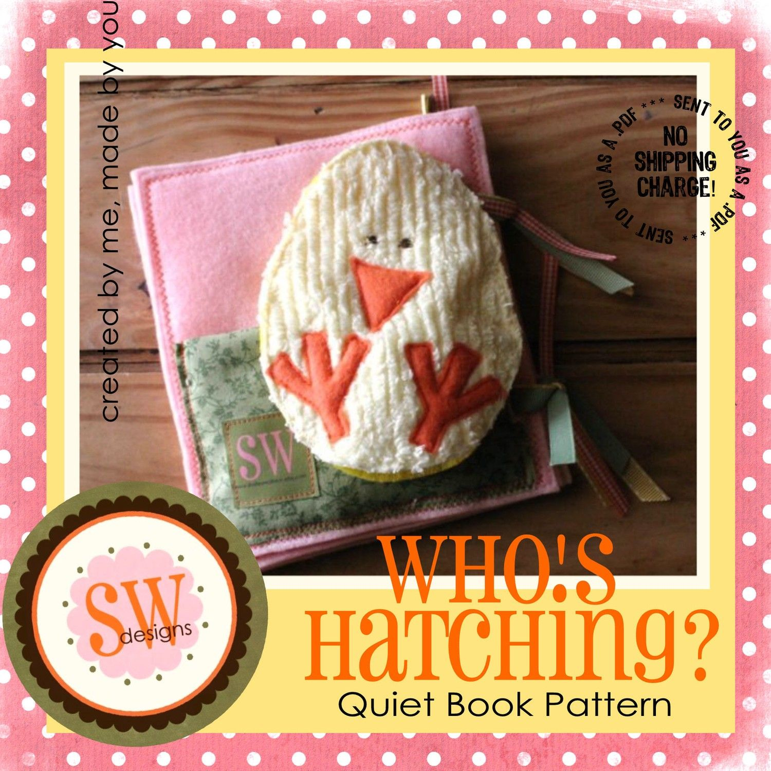 Pattern for whos hatching quiet book digital pdf download forumfinder Gallery