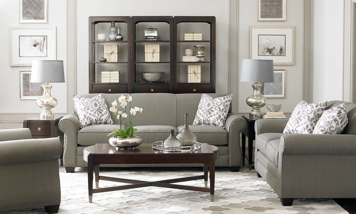 Bassett Furniture Maverick Love Seat Sofa Or Queen Sleeper Sofa