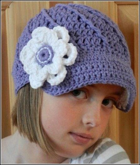Free Crochet Womens Newsboy Hat Pattern | Crochet - Hats | Pinterest