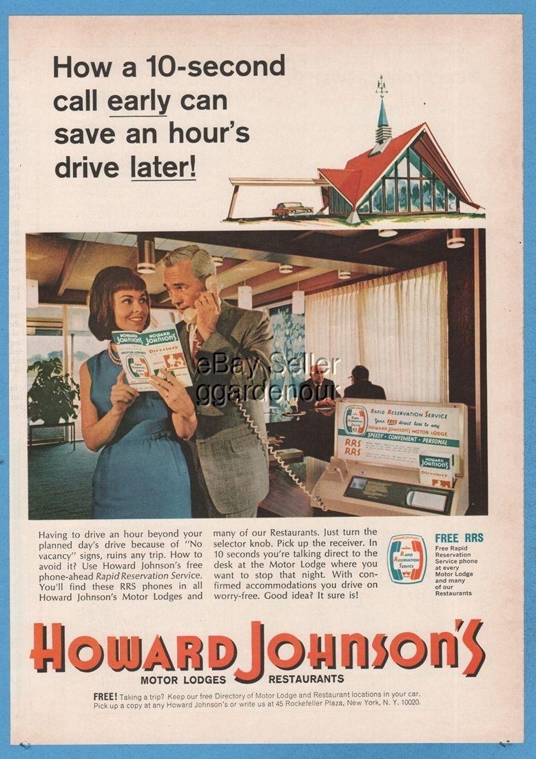 Classic Mid Century Ad Retro Restaurant Ad HOWARD JOHNSON/'S VINTAGE Ad