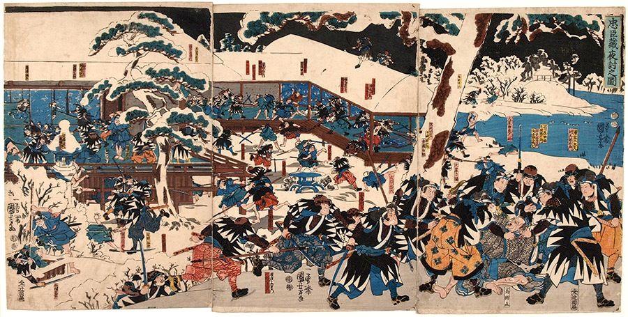 Review: 47 Ronin | Therefore I Geek | Samurai wood block