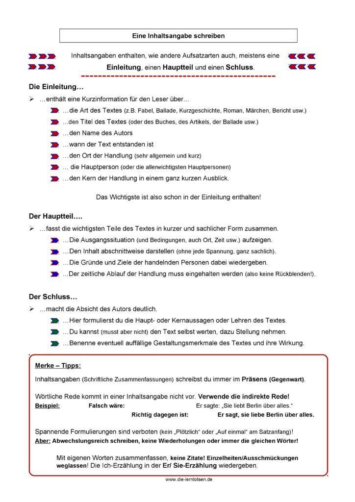 inhaltsangabe schreiben arbeitsblatt kids inhaltsangabe schreiben deutsch schreiben und. Black Bedroom Furniture Sets. Home Design Ideas
