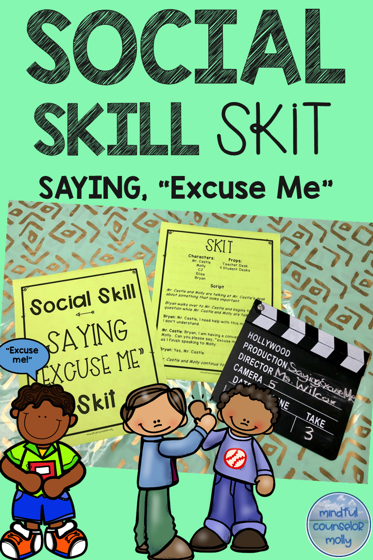 Social Skill Saying Excuse Me Social Skills Activities Social Skills Groups Social Skills