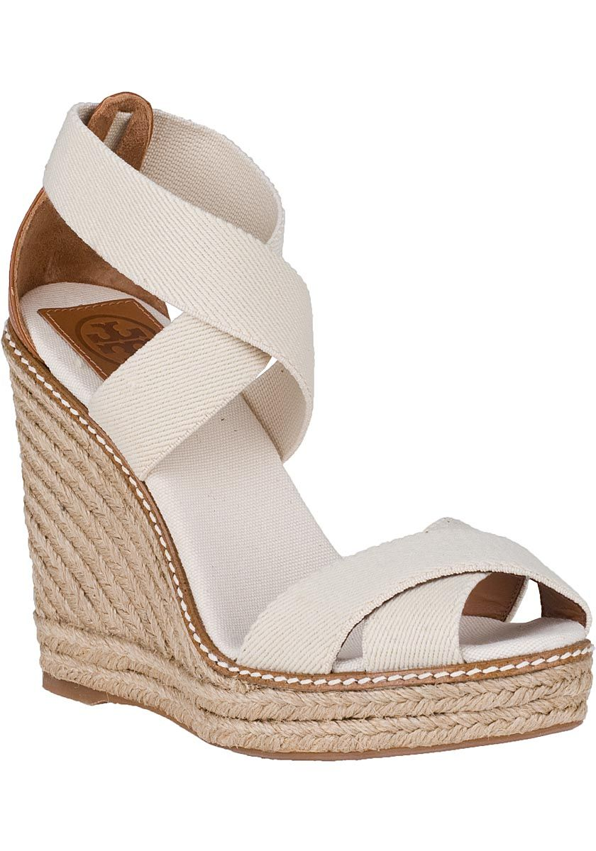 9f41e51ff7 Tory Burch - Adonis Wedge Espadrille Ivory Fabric | Accessoriess ...