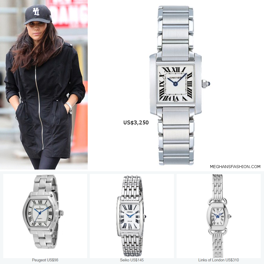 Cartier Tank Francaise Watch , Meghan Markle\u0027s Jewelry