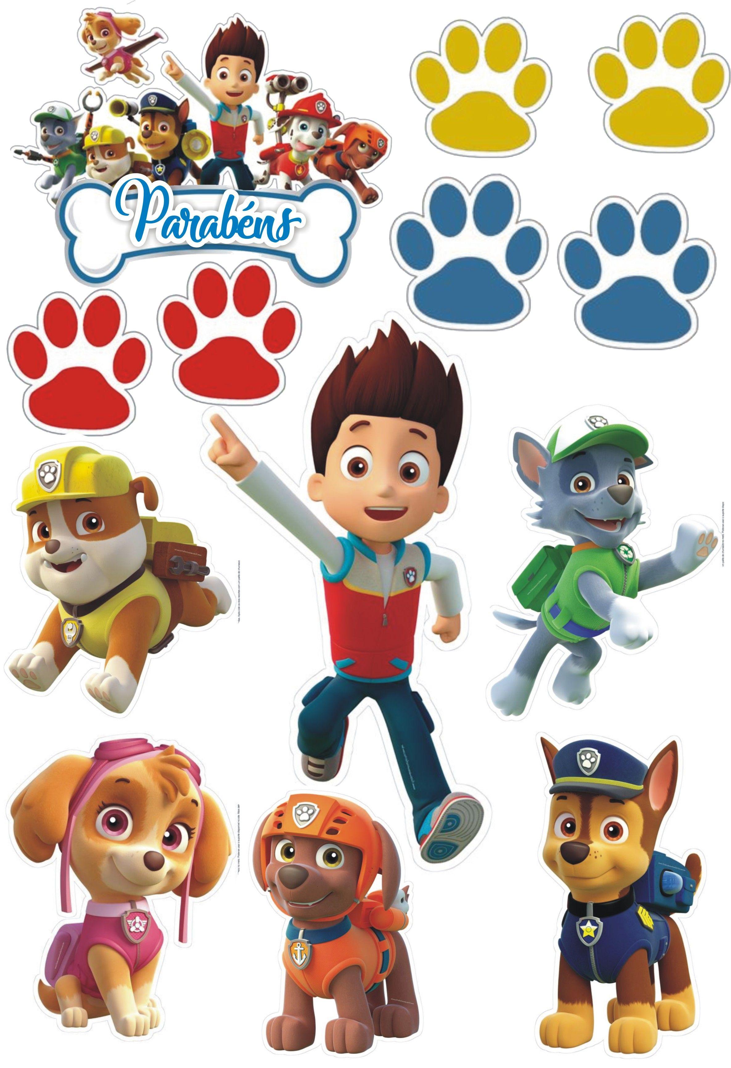 Картинки щенячий патруль все герои по отдельности на торт