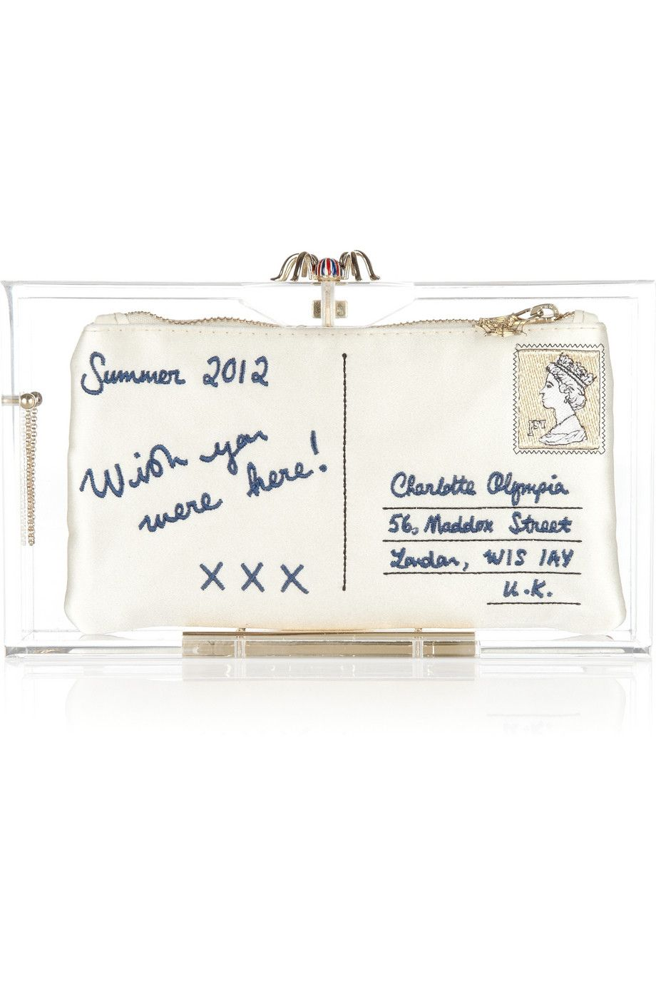 Charlotte Olympia - London 2012 Pandora Perspex clutch