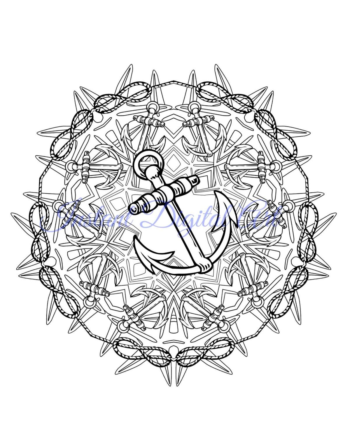 Nautical Mandala Coloring Pages Download Dinosaur Coloring Pages Mandala Coloring Pages Coloring Pages