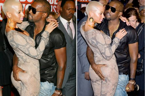 Amber Rose Kanye West At The 2009 Vmas In 2020 Amber Rose Kanye West Amber Rose Kanye