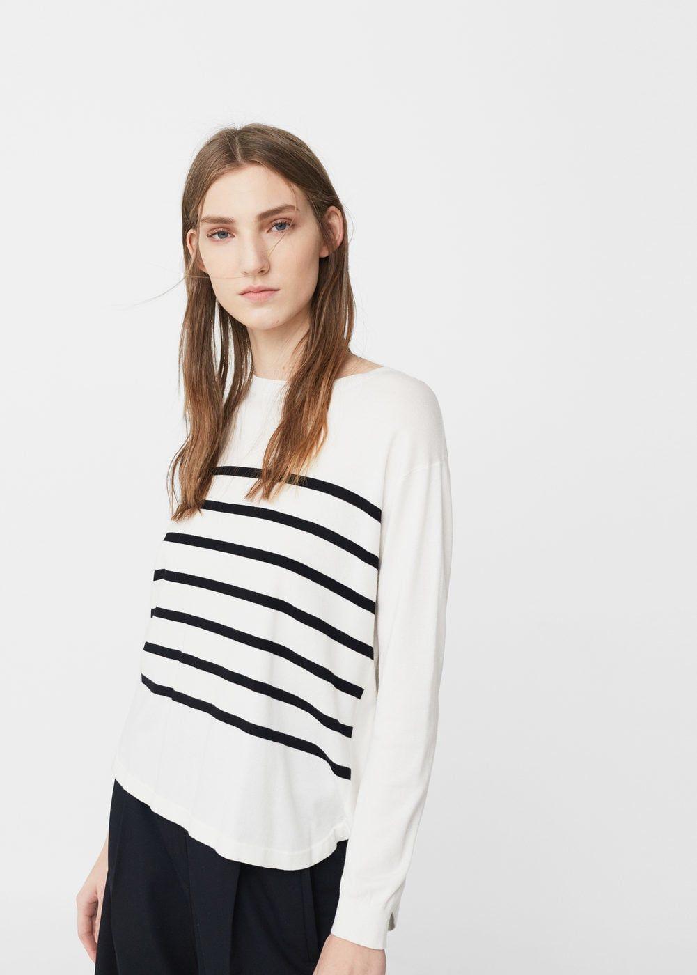 Stripe pattern sweater | MANGO