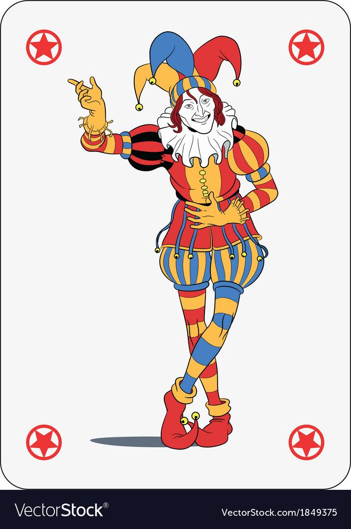 joker in colorful costume playing card download a free