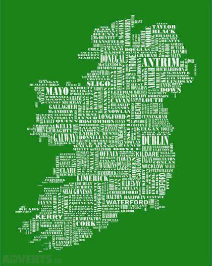 Map Of Quinn Ireland.Unusual Framed Map Of Ireland Someday Ireland Map Frame