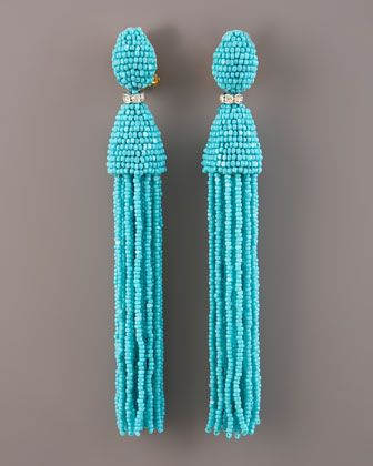 Oscar de la Renta Tassel Earrings - Neiman Marcus