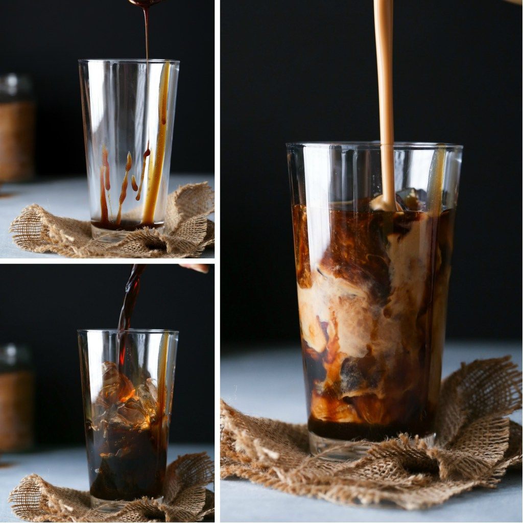 Salted Caramel Coffee Creamer + Iced Latte