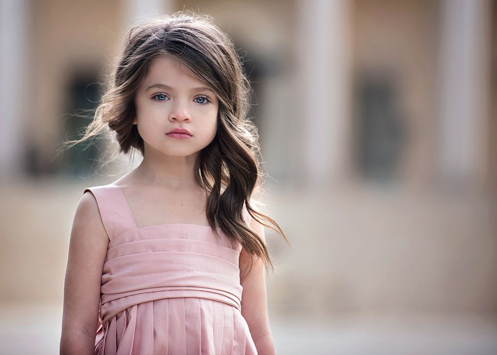 Beautiful Little Girl With Brown Hair Www Pixshark Com
