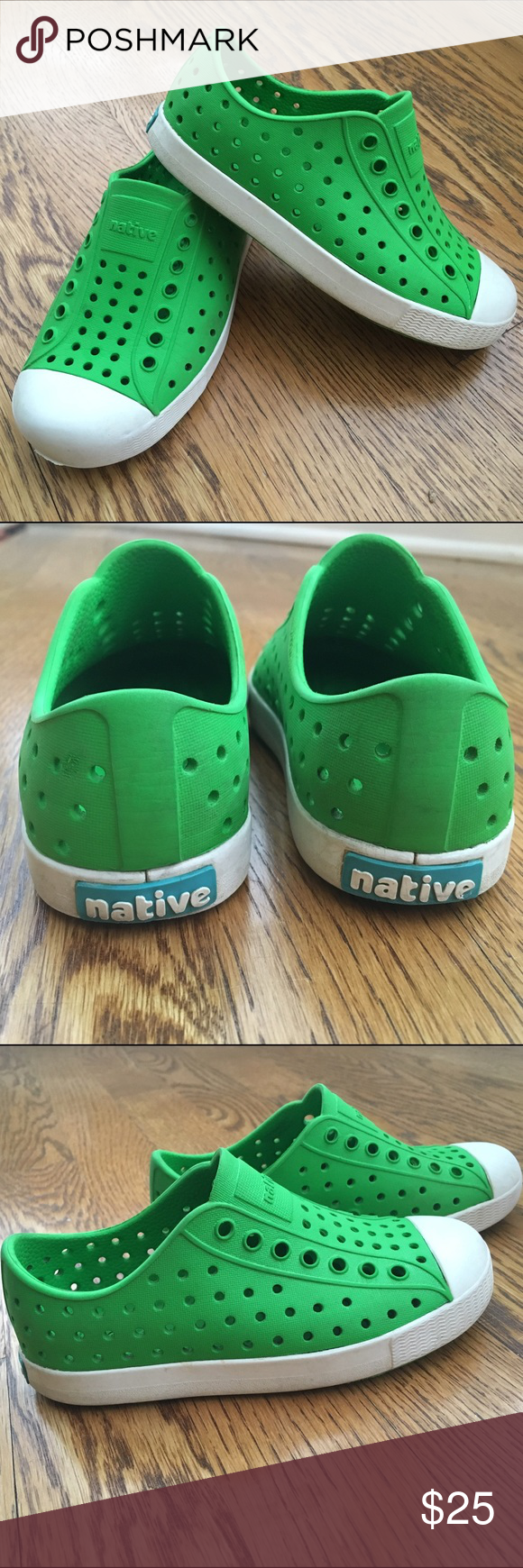 Kids' Native Slip-Ons   Green shoes