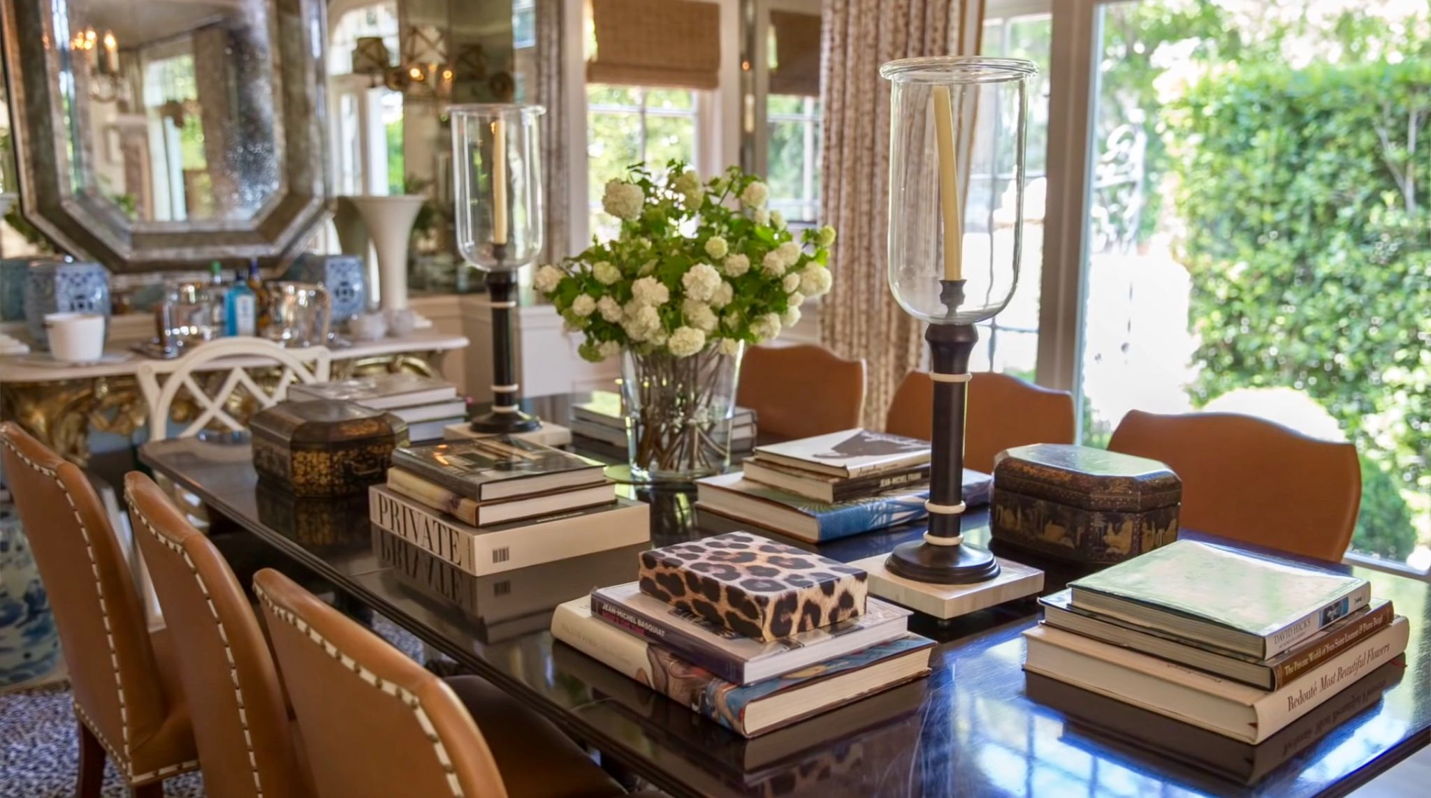 Dining Table Laid With Books