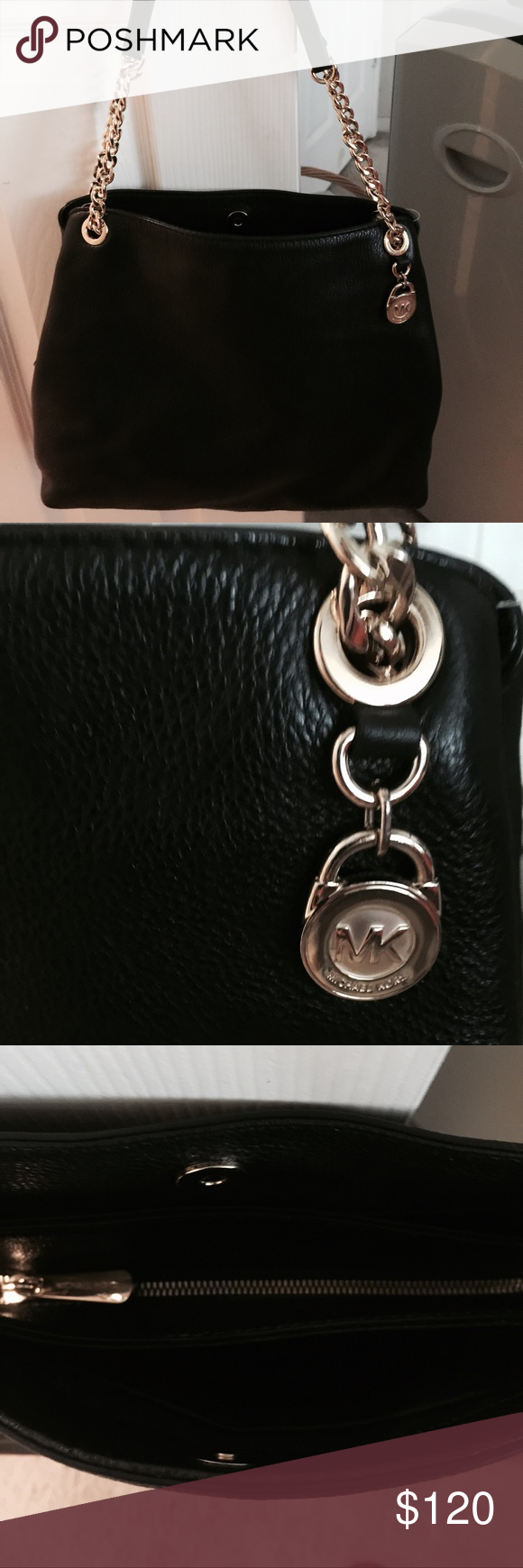 Michael Kors authentic purse brand new. Brand new black n gold purse. Very nice all leather. Michael Kors Bags Shoulder Bags