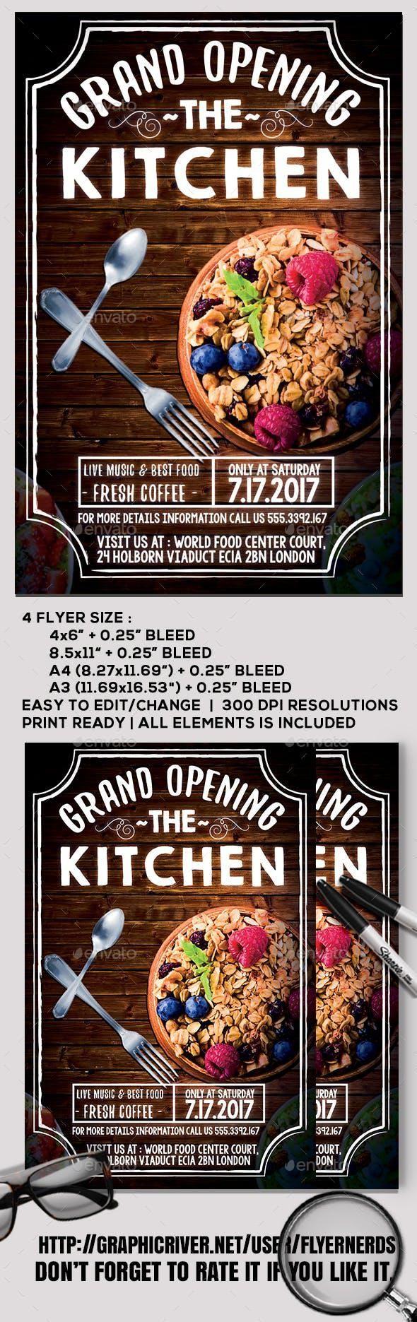 Restaurant Grand Opening Flyer for 7 food set flyer