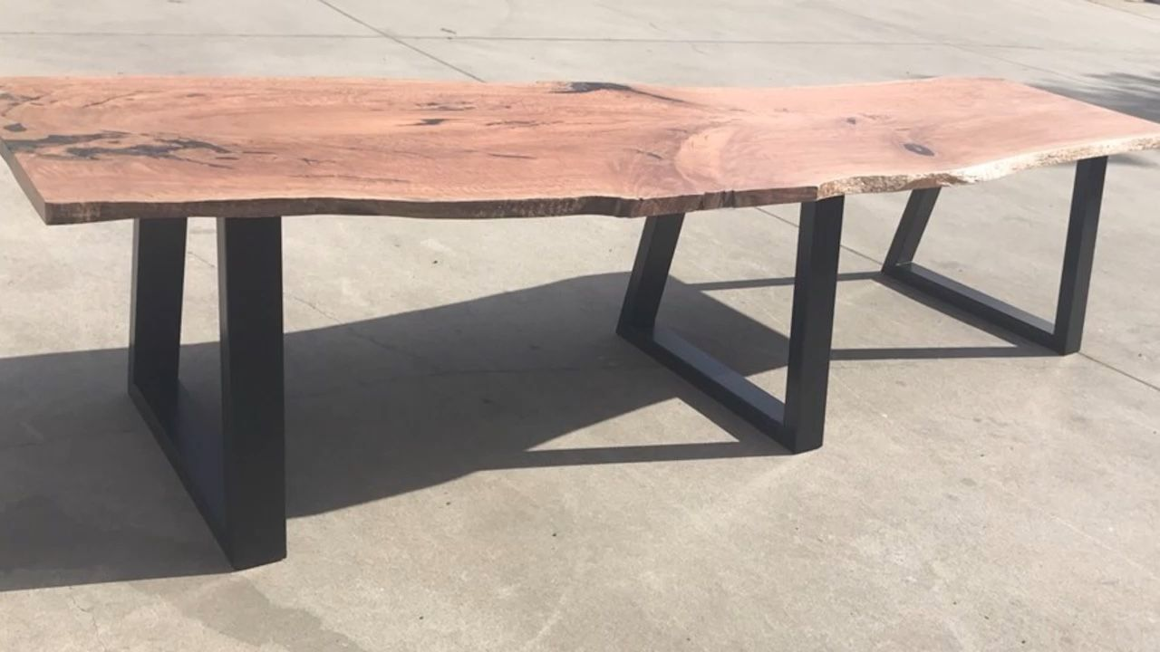 Hairpin Legs Melbourne Live Edge Boardroom Table With Steel Table Legs Dining Tables In