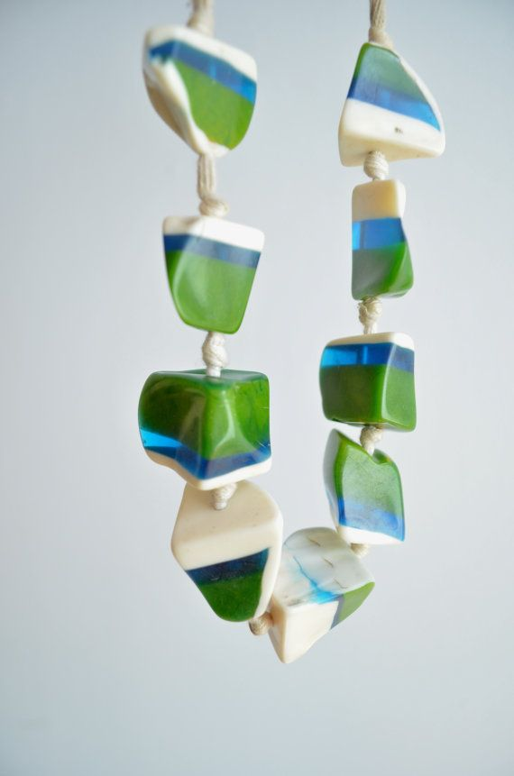 Vintage and handmade resin necklace