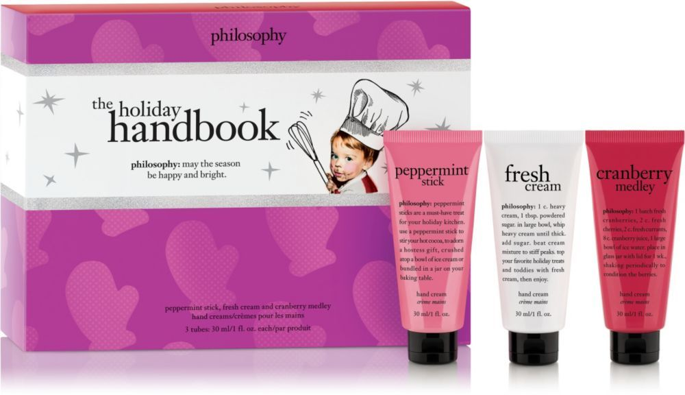 Holiday Handbook 3 Pc Set By Philosophy Includes A Peppermint Stick Hand Cream 1 0 Oz Fresh Cream Hand C Amazing Grace Perfume Philosophy Skin Care Hand Cream