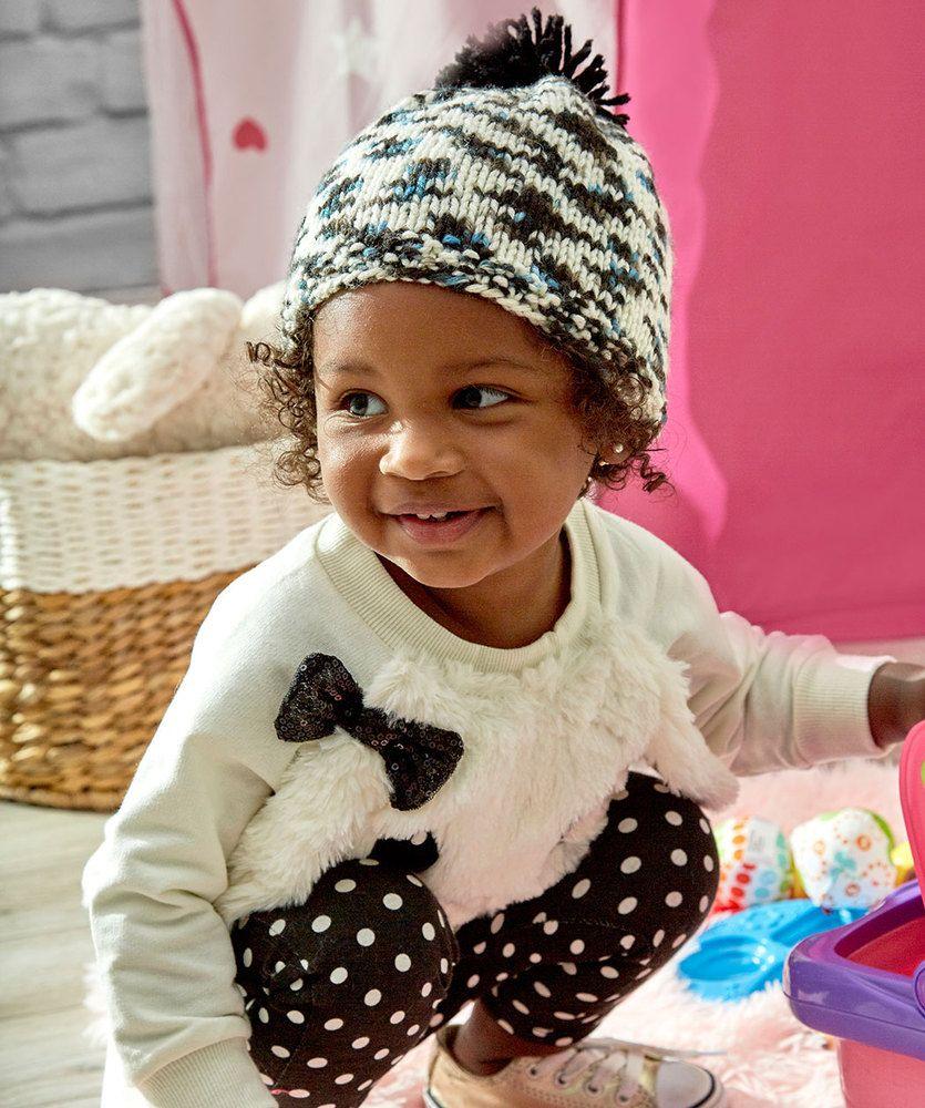 f1fe81b2df4 Pompom Cutie Hat Free Knit Pattern LM5491