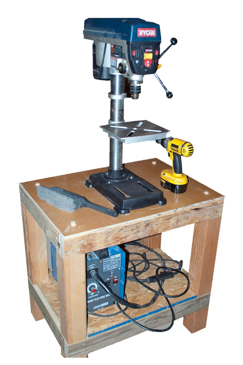 My Shop Bench Top Drill Press Mounted On The Bench When I