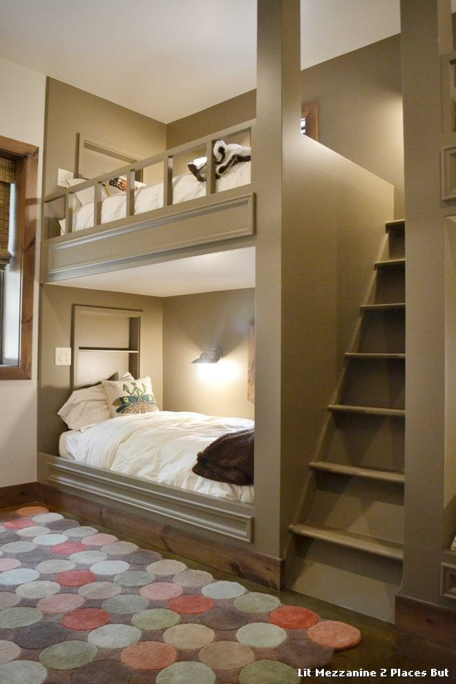 Exceptional Lit Mezzanine 2 Place Bunk Beds Bunk Houses