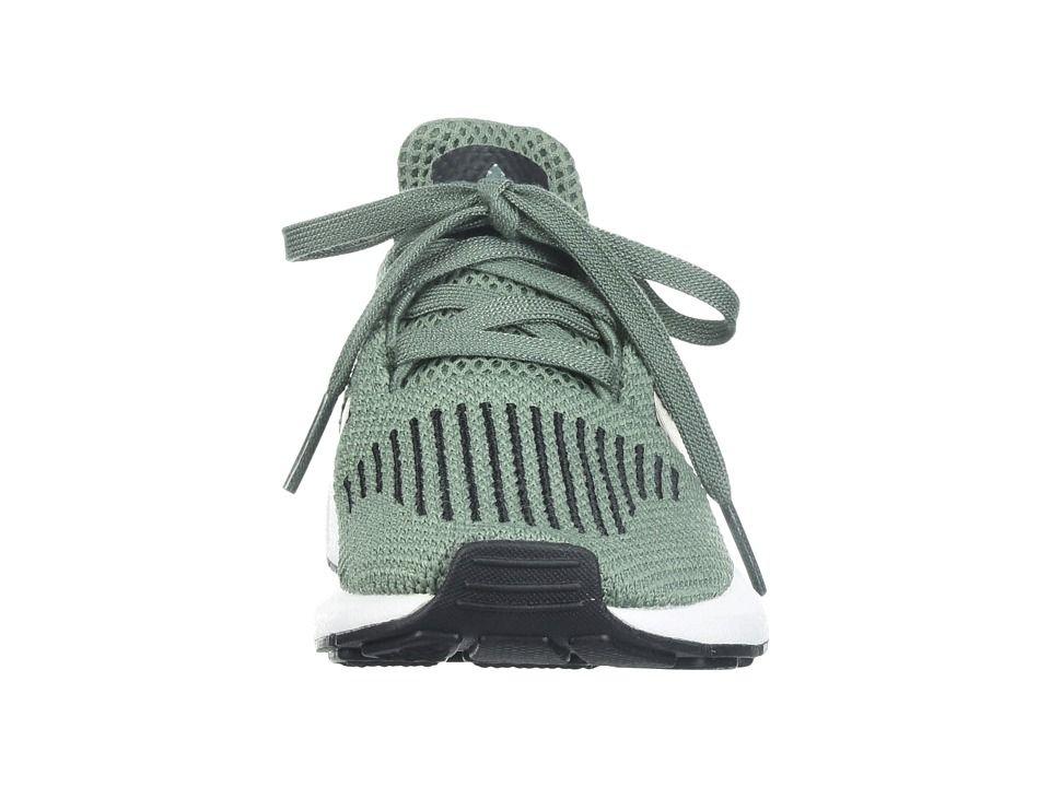 buy popular ad841 ce97a adidas Originals Kids Swift Run (Little Kid) Boys Shoes Trace Green Black  White