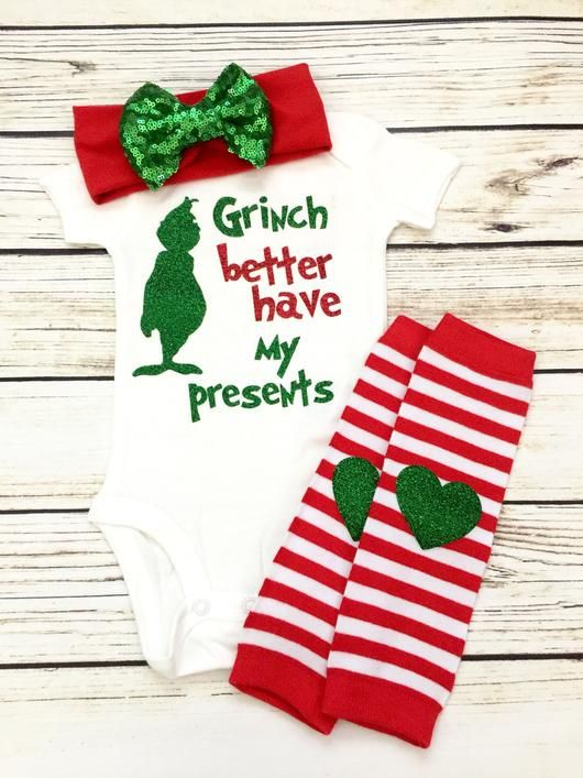 Grinch better have my bows Christmas onesie