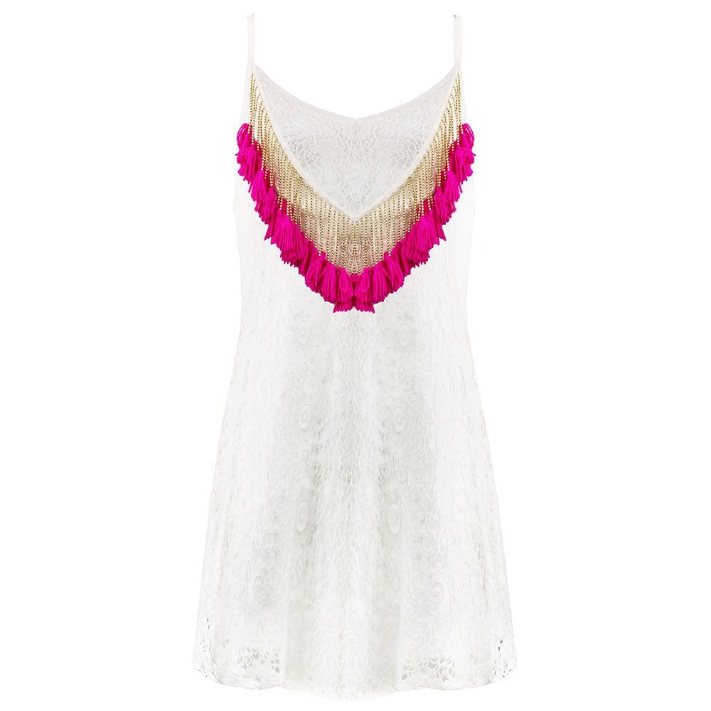 Witte kanten ibiza jurk