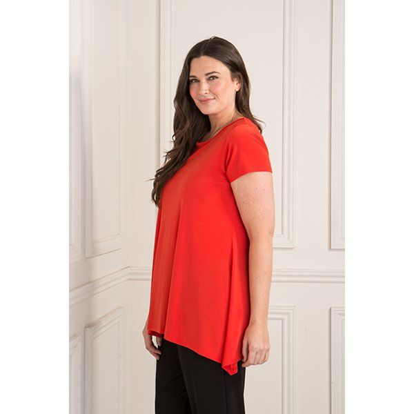 Reflections Short Sleeve Swing Top (372702) | Ideal World